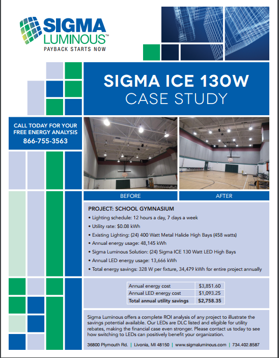 Check Out Our Gymnasium Lighting Case Study Click Here For The Details
